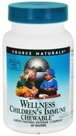 Image of Source Naturals - Children's Immune Chewable Supports Wellness - 30 Wafers