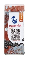 Sweetriot - Cacao Nibs Covered in 70% Dark Chocolate with Espresso - 1 oz. by Sweetriot