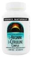 Source Naturals - L-Arginine L-Citrulline Complex Supports Peak Performance 1000 mg. - 60 Tablets