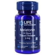 Life Extension - Melatonin 6-Hour Timed Release 3 mg. - 60 Vegetarian Tablets