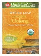 Uncle Lee's Tea - Whole Leaf 100% Organic Oolong Tea - 18 Tea Bags (892241000723)