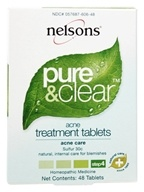 Nelsons - Pure & Clear Acne Treament Tablets Sulfur 30 C - 48 Tablets by Nelsons