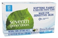 Seventh Generation - Natural Fabric Softener Sheets Free & Clear - 80 Sheet(s)