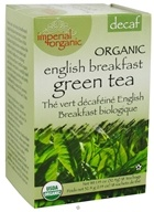 Uncle Lee's Tea - Imperial Organic English Breakfast Green Tea Decaf - 18 Tea Bags