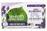 Image of Seventh Generation - Natural Fabric Softener Sheets Blue Eucalyptus and Lavender - 65 Sheet(s)