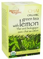 Uncle Lee's Tea - Imperial Organic Chai Green Tea with Lemon - 18 Tea Bags