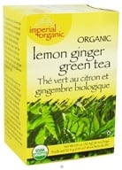 Image of Uncle Lee's Tea - Imperial Organic Lemon Ginger Green Tea - 18 Tea Bags