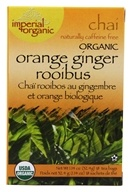 Uncle Lee's Tea - Imperial Chai Organic Orange Ginger Rooibus Caffeine Free - 18 Tea Bags