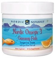 Nordic Naturals - Nordic Omega-3 Gummy Fish Tangerine Treats - 30 Gummies, from category: Nutritional Supplements