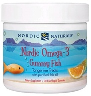 Image of Nordic Naturals - Nordic Omega-3 Gummy Fish Tangerine Treats - 30 Gummies