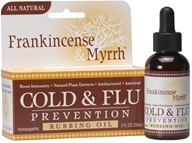 Frankincense & Myrrh - All Natural Cold & Flu Prevention Rubbing Oil - 2 oz.