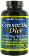 Health Support - Coconut Oil Diet - 180 Softgels (800900182925)