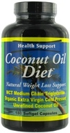 Image of Health Support - Coconut Oil Diet - 180 Softgels