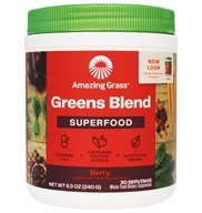 Amazing Grass - Green SuperFood Drink Powder Berry Flavor - 8.5 oz. by Amazing Grass