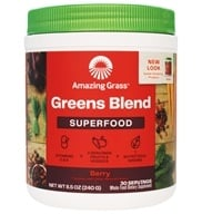 Amazing Grass - Green SuperFood Drink Powder 30 Servings Berry Flavor - 8.5 oz. by Amazing Grass