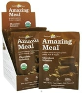 Amazing Grass - Amazing Meal Powder Packets Chocolate Infusion - 10 x 32g Packets by Amazing Grass
