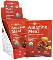 Amazing Grass - Amazing Meal Powder Packets Pomegranate Mango Infusion - 10 x 29g Packets