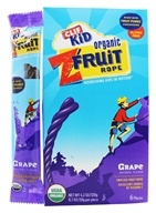 Clif Bar - Kid Organic Twisted Fruit Rope Grape - 6 Pack (722252381057)