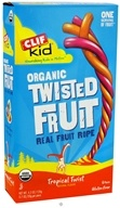 Clif Bar - Kid Organic Twisted Fruit Rope Tropical Twist - 6 Pack (722252381040)