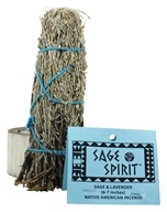 Sage Spirit - Smudge Wand Large Sage & Lavender - 6 in. (049347003084)