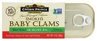 Crown Prince Natural - Natural Smoked Baby Clams - 3 oz.