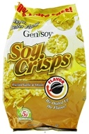 Genisoy - Soy Crisps Naturally Flavored Roasted Garlic & Onion - 3.85 oz.