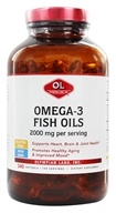 Image of Olympian Labs - Omega-3 Fish Oils From Cold Water Fish Super Size 1000 mg. - 240 Softgels