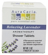Image of Aura Cacia - Aromatherapy Shower Tablets Relaxing Lavender - 3 oz.