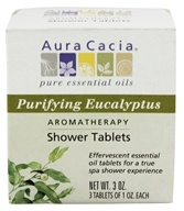 Image of Aura Cacia - Aromatherapy Shower Tablets Purifying Eucalyptus - 3 oz.