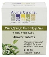Aura Cacia - Aromatherapy Shower Tablets Purifying Eucalyptus - 3 oz. - $4.19