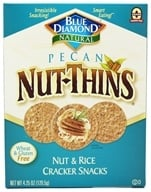 Image of Blue Diamond Growers - Pecan Nut-Thins Nut & Rice Cracker Snacks - 4.25 oz.