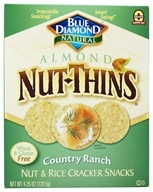 Image of Blue Diamond Growers - Almond Nut-Thins Nut & Rice Cracker Snacks Country Ranch - 4.25 oz.