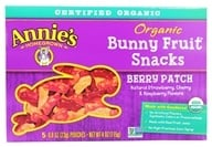 Image of Annie's Homegrown - Organic Bunny Fruit Snacks Berry Patch - 4 oz.