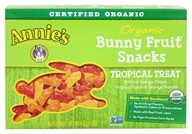 Image of Annie's Homegrown - Organic Bunny Fruit Snacks Tropical Treat - 4 oz.