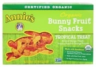Annie's Homegrown - Organic Bunny Fruit Snacks Tropical Treat - 4 oz.