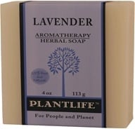 Plantlife Natural Body Care - Aromatherapy Herbal Soap Lavender - 4 oz. (643948001021)