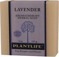 Plantlife Natural Body Care - Aromatherapy Herbal Soap Lavender - 4 oz. by Plantlife Natural Body Care