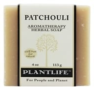 Plantlife Natural Body Care - Aromatherapy Herbal Soap Patchouli - 4 oz. by Plantlife Natural Body Care