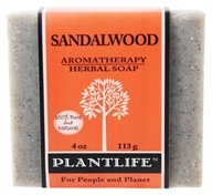 Plantlife Natural Body Care - Aromatherapy Herbal Soap Sandalwood - 4 oz. (643948001182)