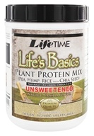 LifeTime Vitamins - Life's Basics Plant Protein Unsweetened Vanilla - 1 lb. by LifeTime Vitamins