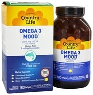 Country Life - Omega 3 Mood Fish Oils - 180 Softgels by Country Life