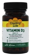 Country Life - Vitamin D3 5000 IU - 60 Softgels, from category: Vitamins & Minerals