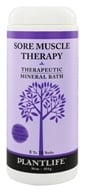 Therapeutic Mineral Bath Sore Muscle Therapy - 16 oz. by Plantlife Natural Body Care
