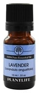 Plantlife Natural Body Care - 100% Pure Essential Oil Lavender - 10 ml. by Plantlife Natural Body Care