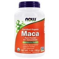 NOW Foods - Maca Pure Powder 100% Certified Organic - 7 oz. (733739050359)