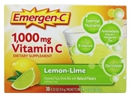 Alacer - Emergen-C Vitamin C Energy Booster Lemon-Lime 1000 mg. - 30 Packet(s) (076314302055)
