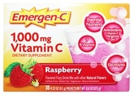 Alacer - Emergen-C Vitamin C Energy Booster Raspberry 1000 mg. - 30 Packet(s) (076314302017)