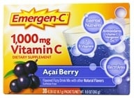 Alacer - Emergen-C Vitamin C Energy Booster Acai Berry 1000 mg. - 30 Packet(s) (076314302062)