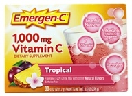 Alacer - Emergen-C Vitamin C Energy Booster Tropical 1000 mg. - 30 Packet(s) (076314302079)