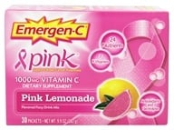 Alacer - Emergen-C Pink Vitamin C Energy Booster Pink Lemonade 1000 mg. - 30 Packet(s) (076314302048)
